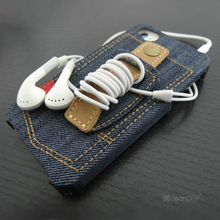 Mobile phone accessories Cool design denim PU leather PC case for apple iphone 5 5g