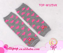 Hot sale heart cute animal pattern cotton fabric children leg warmers baby