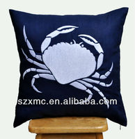 HOT SALE !simple design wholesale crab image sea style decor cushion