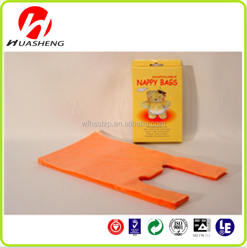 HDPE disposable plastic baby nappy bag