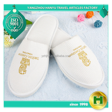 Walf Checks Hotel Slippers / Promotion Waffle Fancy House Bedroom Slippers / Wholesale Disposable Anti-slip Indoor Spa Slippers