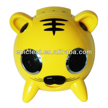 tiger animated plastic mini speaker for promotion