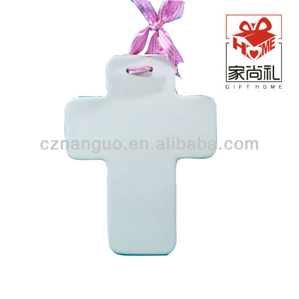 ceramic wall cross hanging ornaments