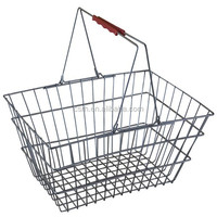 High Quality Chrome Metal Grocery Shopping Basket