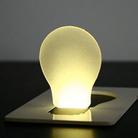 Novelty Mini Portable Pocket LED Card