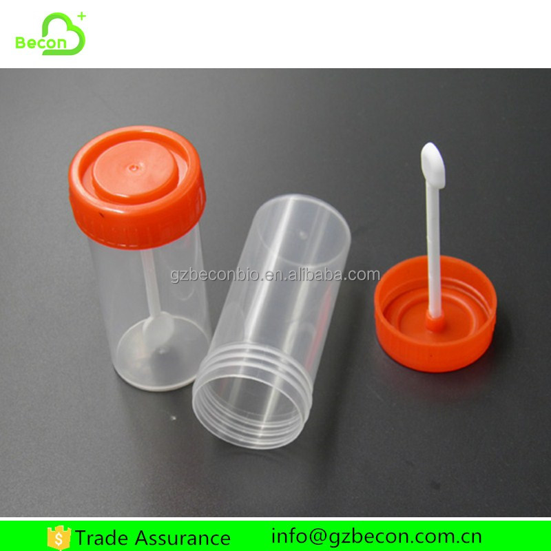 Medical Consumer Plastic Disposable Stool Sample Container with Spoon