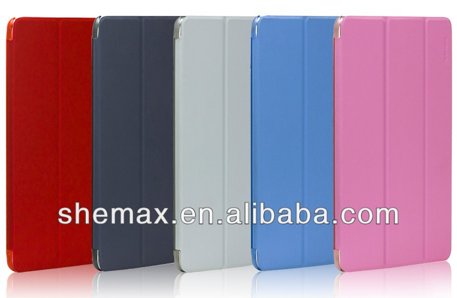 Slim Magnetic PU Leather Smart Cover + Hard Back Case For Apple iPad 5 air 2014