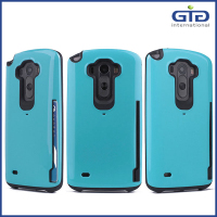 [GGIT] Wholesale TPU+PC Phone Cases with Card Bag for LG