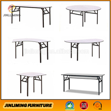 PVC top metal frame folding dining table