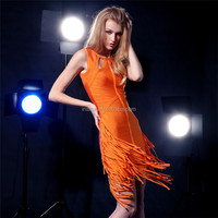 high quality bodycon womens slim fit breeze dress with tassels