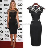 New arrival black OL sex lace backless women dress women bandage black bodycon party sexy wholesale women dresses
