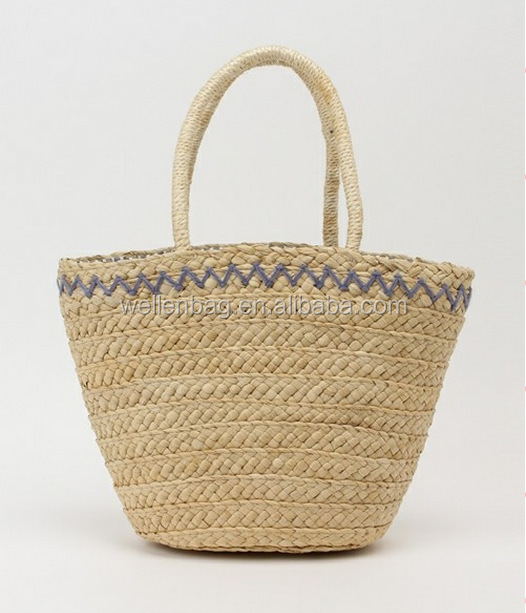 hot sale fashion ladies tote straw bag wholesale summber beach embroidery moroccan straw bag