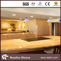 polished bullnose natural wooden yellow onyx marble countertop