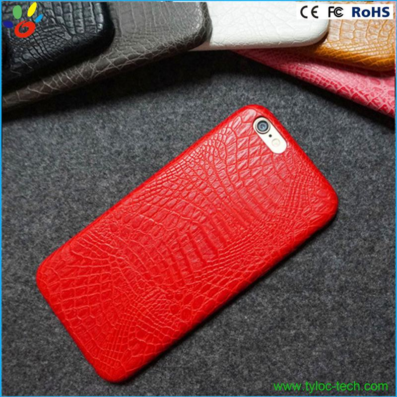 Colorful for iphone 6s cell phone case with high quality crocodile skin leather
