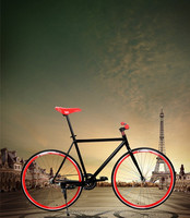 700C freestyle Colorful high quality fixed gear bike/ factory mixed color fixed gear bike