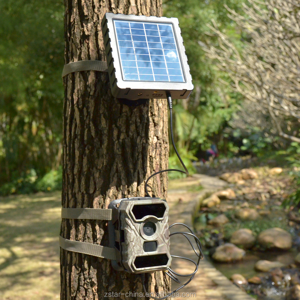 12V 3000MAh solar panel charger for outdoor wildlife hunting camera