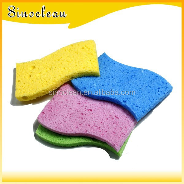 S-shaped Scotch brite sponge, wooden pulp sponge, cleaning sponge
