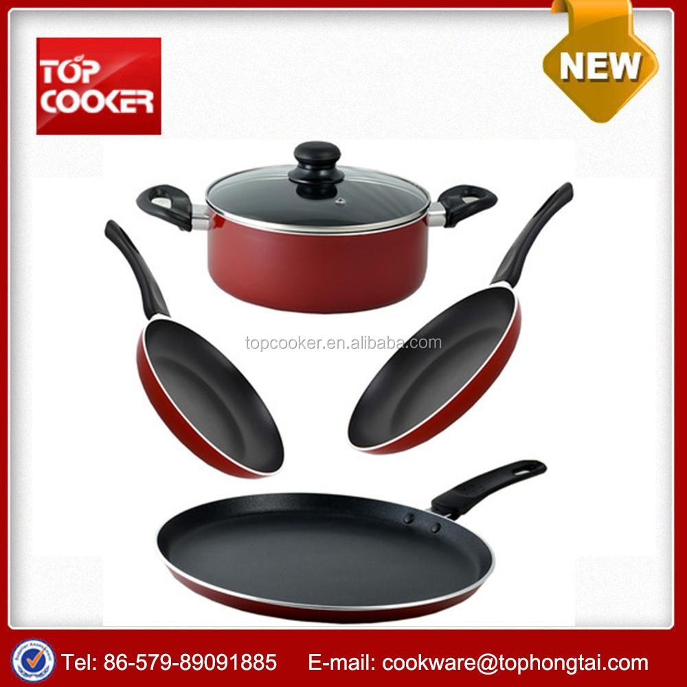 Aluminum 5pcs non-stick cookware set as seen on tv