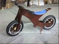 Wood balance bike for kids wooden bike wheel