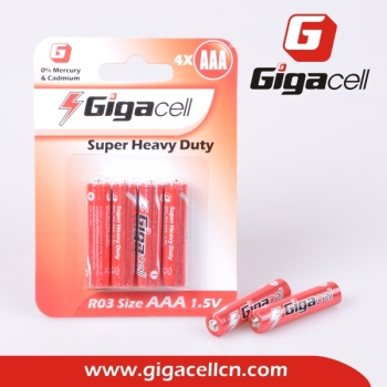 R03 battery Size AAA Super Heavy Duty Carbon battery