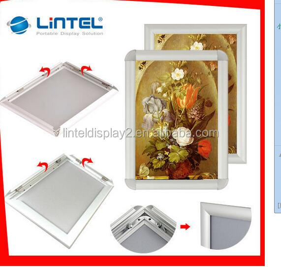 aluminum profiles printed picture snap frame