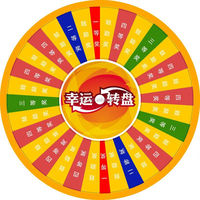 Wheel of Fortune\Lucky Turntable( for lottery\promotion activities)pvc inflatable advertising model plane toy