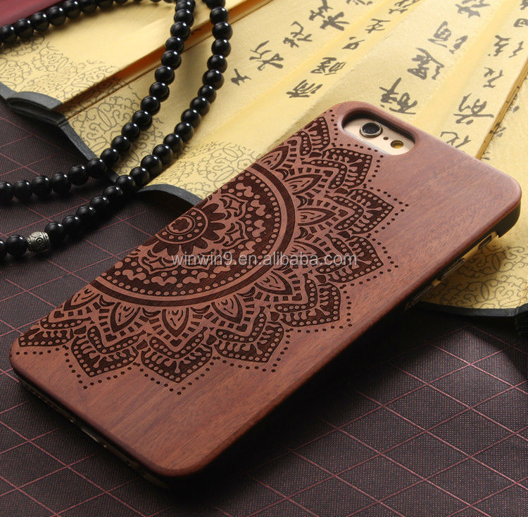 Wholesale hard blank real wood,mobile phone case for lenovo s820