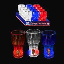 Light up wine glass barware blinking Led flashing glow led cups for party Patriotic 12oz Flashing Drink Glass