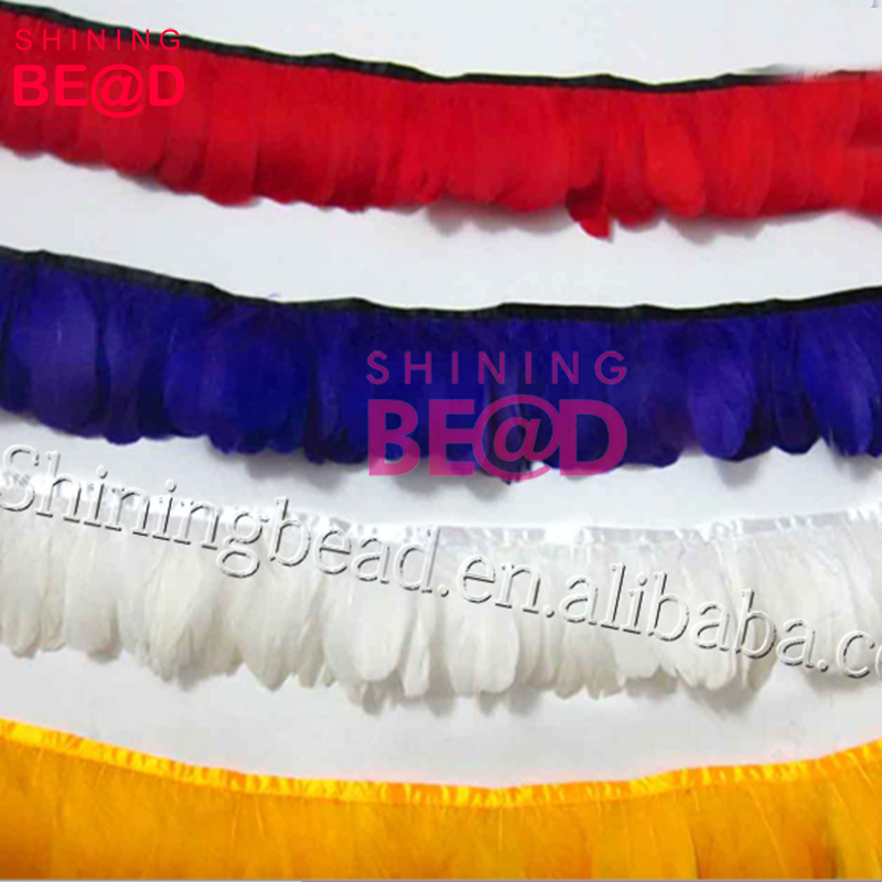 Cheap and good quality dyed colors goose feather boas for Christmas Ornaments