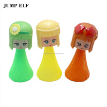 Customized cute girl cartoon Jumping elf toy bounce elf toys