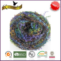100% mohair space dyed hairy boucle knitting yarn