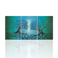 Modern Wall Art Abstract Wall Pictures Love Kiss Tree Root Canvas Art 3 Panels Home Decorative Oil Painting Prints