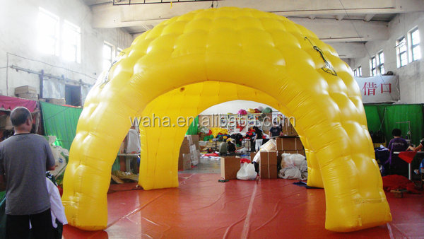 yellow inflatable bubble tent