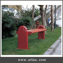 Arlau Metal Sport Benches, Wrought Iron Kids Park Bench, Metal Outdoor Bench Furniture