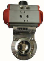 Butterfly valve with aluminum actuator