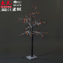 Best sale Artificial red fruit snow tree waterpoof IP44 christmas outdoor light