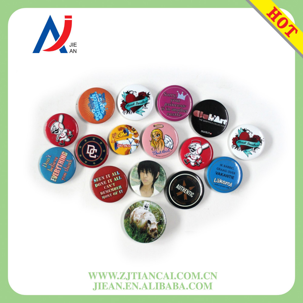 Mixed Style Cartoon Design Plastic Round Cute Lovely Kids Button Badge Pin Badge