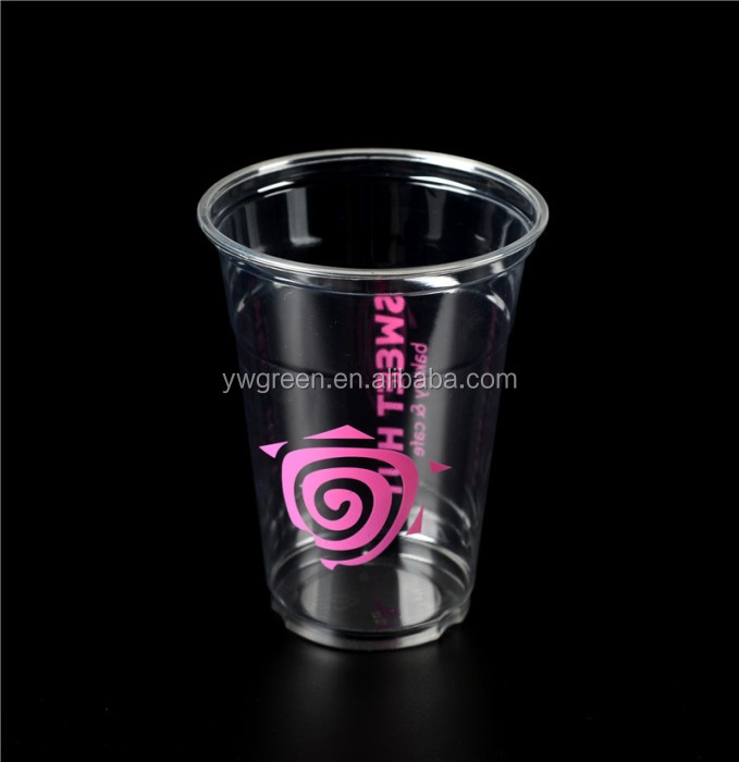 plastic cup disposable custom printed one color,custom unbreakable glass cups