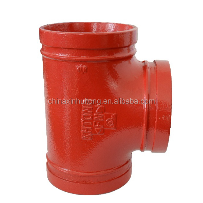 FM UL Approved Grooved Equal Tee fittings for cement