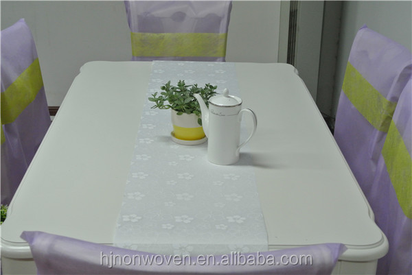 100%PET non-woven tissue decoration table runner