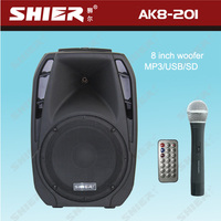SHIER AK8-201 Plastic 20W cheaper audio trolley sound amplifer