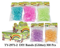 2014 hot-selling fashion knit DIY loom bands rainbow,cheap colored rubber rain bow loom bands, loom bands with hooks, S-clips..