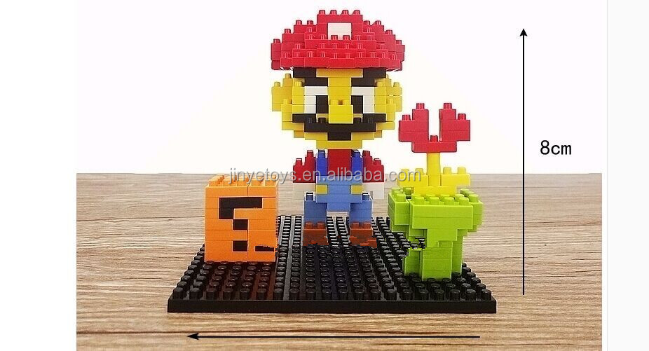 mario block 2016 hot DIY toys plastic building toy educational toy