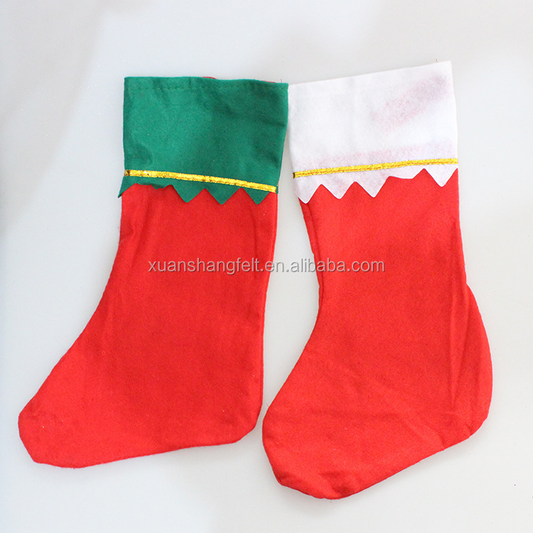 Cheap price socks shape felt christmas bag for gift package