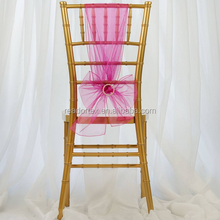 Fushia Hot Pink Organza Chair Sash Low Price China Manufacture