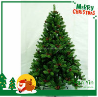 2015 new design hot sale artificial christmas tree with pine cones