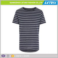 Wholesale stripe t-shirt two color extended t shirt factory in Guangzhou