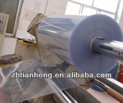 Russia Rigid clear bluish PVC plastic sheet roll for thermoforming / vacuumformEcuadorving /blister pack