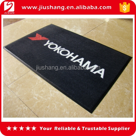 Personalized rubber backed door mats