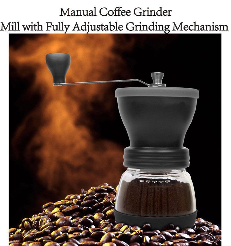 100g Capacity Ceramic Manual Hand Coffee Grinder Machine